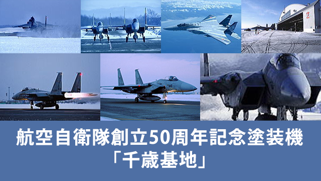 航空自衛隊創立50周年記念塗装機「千歳基地」の動画 - 航空自衛隊創立50周年記念塗装機・空撮特集