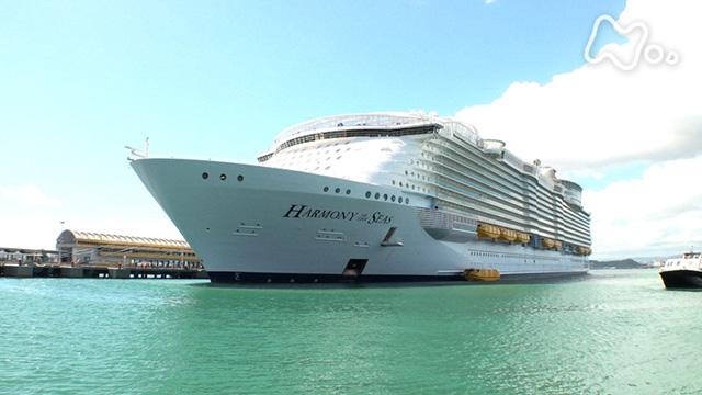 """カリブ海 大型客船の旅 """"世界最大""""の船上に出現した動く街!"""
